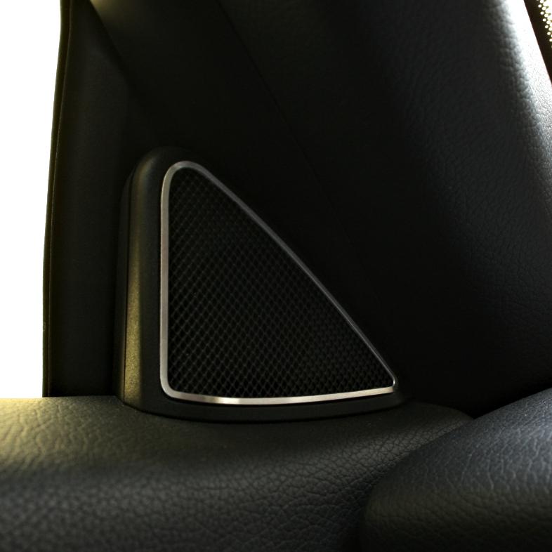 1 Zierring f/ür Mikrofon Mercedes SLK 172 aus Aluminium R172 FL 280 200 350 AMG55 AMG45